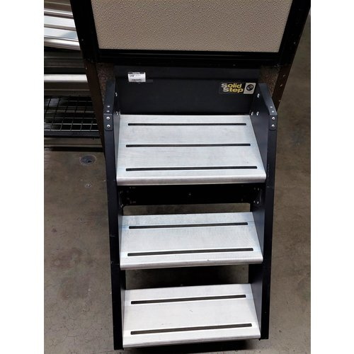 Step Solid Triple Entry Door Fold Up