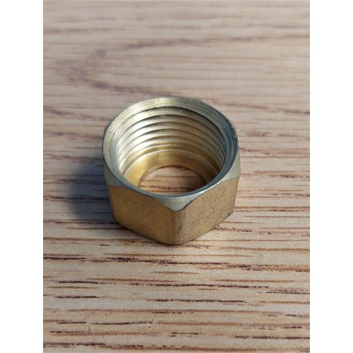 """Unbranded Brass 1/2""""  Nut Connector"""
