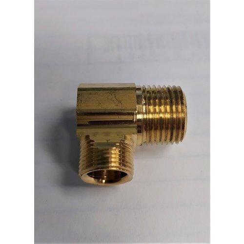 """Brass 3/8"""" MIP x 1/4"""" MIP Compression 90"""