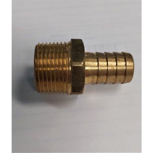 """Brass 3/8"""" Barb x  3/4"""" MIP Hose Adapter"""