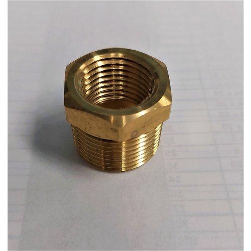 "Brass Bushing 3/4"" MIP x 1/2"" FIP"