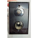 TV Wall Plate /with 12v outlet black