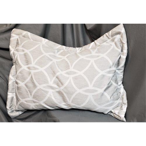 Ascot Enterprises Pillow Sham Set Geo Gray