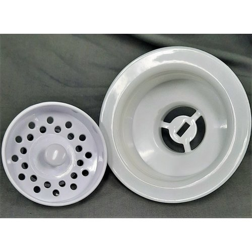 Various Kitchen Sink Drain w/ Basket White
