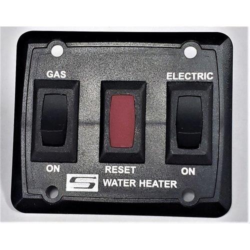 Suburban Water Heater Wall Switch Gas / Electric  Suburban Black
