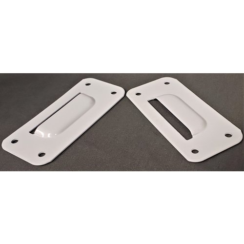 AP Products Wall Plate Bracket Pair White