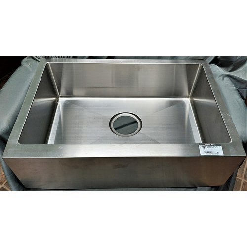 Lippert Components Sink Single Basin 23 x 16 Stainless Farm House