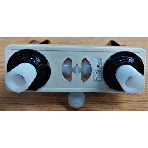 Unbranded Faucet Shower Parchment w/ Smoke Handles