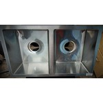 Lippert Components Sink Double Basin 27 x 16 Stainless Square