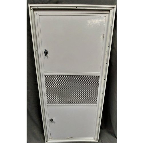 Unbranded Generator Door 36 x 16  WHT/WHT With Vent and Square Corners