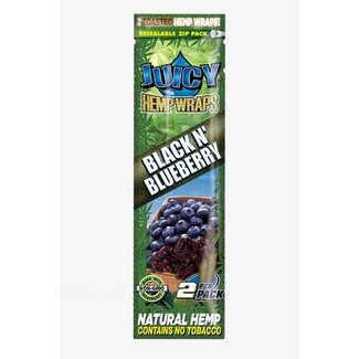 Juicy Juicy Jay's Hemp Wraps Black n Blueberry