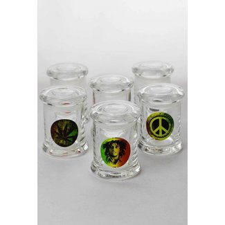 3 Oz Glass Jar with Silicone seal