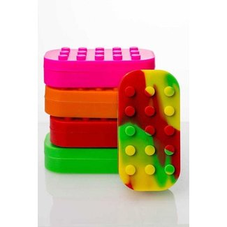 Brick Multi compartment Silicone Concentrate Container