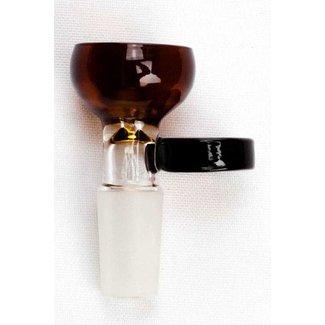 Nice Glass Thick Glass Bowl 14mm Amber