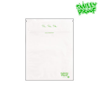 Smelly Proof White Smelly Proof Child Resistant Bags Medium