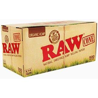 Raw Organic Natural Unrefined Hemp Pre-Rolled Cones 1 1/4 Box 900