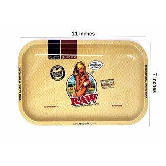 Raw Raw Girl Rolling Tray Tin Small