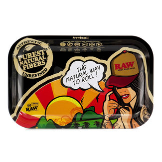 Raw Raw Brazil Rolling Tray Small