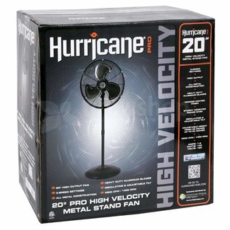 Hurricane Hurricane Pro High Velocity Oscillating Metal Stand Fan 20 in