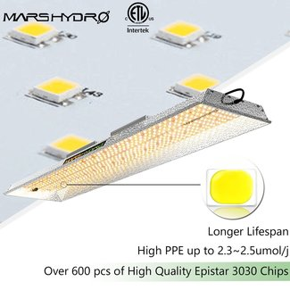 Mars Hydro TSL 2000 QB Design Led Plant Grow Lamp for 2'x4', Sunlike Spectrum with IR, Replace 400~600w HPS - Mars Hydro