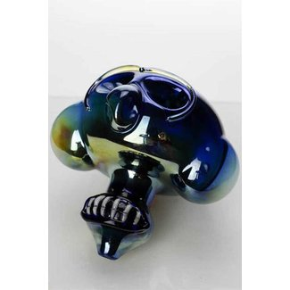 OneWholesale Metallic color Monkey glass pipe