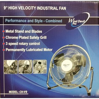 "Wind Devil WindDevil P 9"" Floor Fan 3Spd"