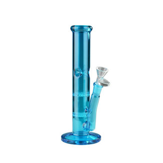 "West Coast Gifts 10"" Tall Day Glow Straight Tube W/2 Honeycomb Percs"