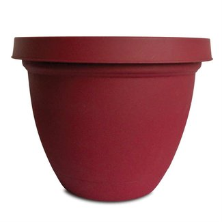 "The HC Companies HC 20"" Infinity Planter w/ Attached Saucer Warm Red"