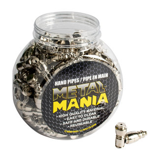 Metal Mania Small Chamber Nickel Metal Pipe Display Jar