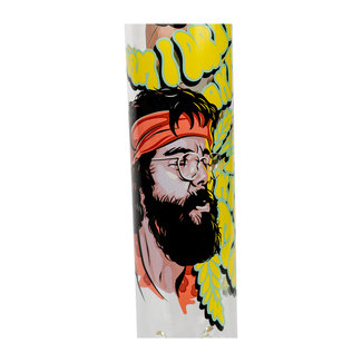 "Cheech & Chong Glass Cheech & Chong Glass 15"" Tall Parked Beaker Tube W/Iconic Artwork & Signature"