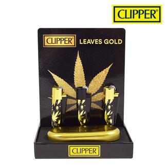 Clipper Clipper Gold Leaves Metal w/ Case