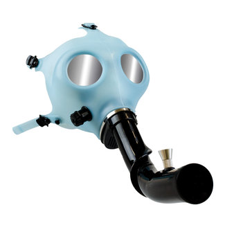 West Coast Gifts Gas Mask Glow-In-The-Dark W/Curved Acrylic Steam Roller