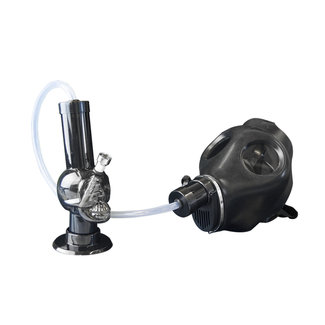 West Coast Gifts Gas Mask Black With Acrylic Skull Water Pipe Kit