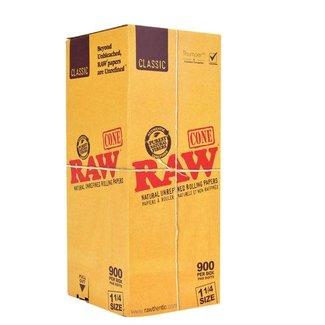 Raw Raw Classic Natural Unrefined Pre-Rolled Cones 1 1/4 Box 900