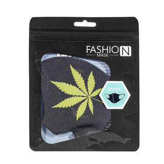 West Coast Gifts Cannabis Leaf Face Mask