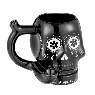 West Coast Gifts Sugar Skull Mug Pipe