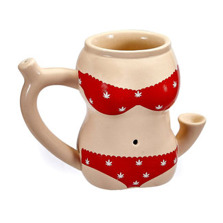 West Coast Gifts Bikini Ceramic Mug Pipe