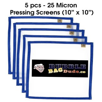 "Bubble Bag Dude BUBBLEBAGDUDE Pressing Screen (5 Pack of 25 Micron) 10"" x 10"""