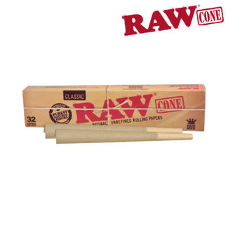 Raw Raw Classic Natural Unrefined King Size Cones