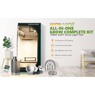Mars Hydro Mars Hydro TS 600 LED Grow Light + 2'x2' Indoor Tent Kits Combo Carbon Filter