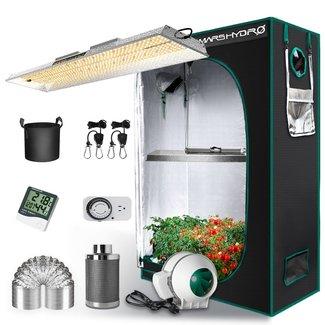 Mars Hydro Mars Hydro TSL 2000 LED Grow Light + 2'x4' Indoor Tent Kits Combo Carbon Filter