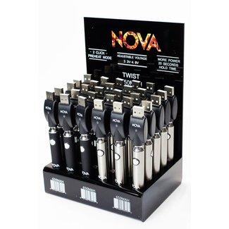 Nova 650 mAh Twist Control Vape Battery with USB charger