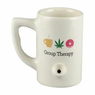 bobhq Wake & Bake 8oz Ceramic Pipe Mug - Group Therapy