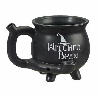 Fashion Craft Premium Roast & Toast Ceramic Mug w/ Pipe - Witches Brew Cauldron