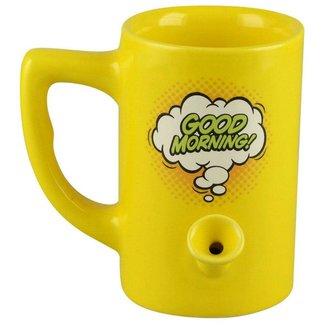 bobhq Wake & Bake 8oz Ceramic Pipe Mug - Good Morning