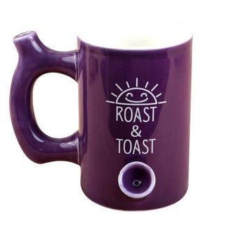 Fashion Craft Premium Roast & Toast Ceramic Mug w/ Pipe - Purple