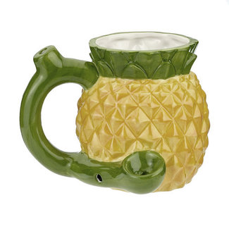Fashion Craft Premium Roast & Toast Ceramic Mug w/ Pipe - Pineapple
