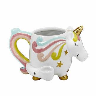 Fashion Craft Premium Roast & Toast Ceramic Mug w/ Pipe - Unicorn