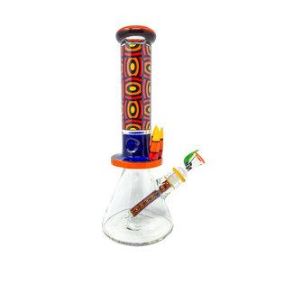 """Cheech Glass 13"""" Beaker with Bullets"""