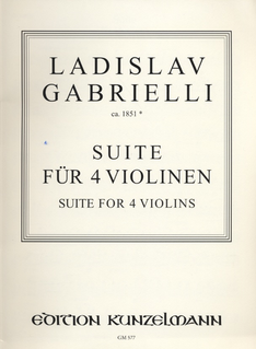 Edition Kunzelmann Gabrielli, Ladislav: Suite for 4 Violins-ca.1851